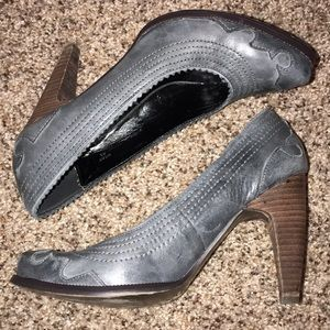 Sexy Gray Western Cowgirl Shoes by Envy